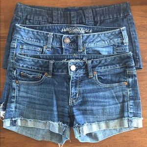 3 pair bundle AE jean shorts size 6